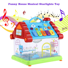 KUNSHENG Funny Musical House Piano Electric Toy