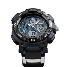 SKMEI Jam Tangan Pria Digital Analog Waterproof LED Watch 1211 - Biru