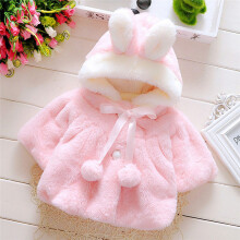 BESSKY Baby Infant Girls Fur Winter Warm Coat Cloak Jacket Thick Warm Clothes_