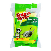 3M Scotch Brite Sabut Spons Hijau - 3 x 4 in, ID-30