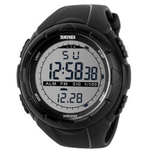 SKMEI Jam Tangan Pria Digital Analog Waterproof LED Watch 1016 - Hitam
