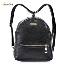 Guapabien PU Leather Zipper Closure Small Backpack Shoulder Bag