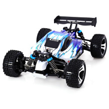 WLtoys A959 2.4G 1/18 Scale Remote Control OFF-road Racing Car SUV EU PLUG-Red Bright Black