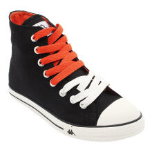 Kappa Simple Hi Sepatu Casual - Black/Orange
