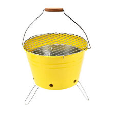 MASPION Bucket Grill 30cm - Green and yellow