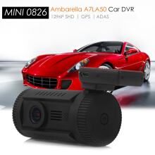 MINI 0826 1.5 inch TFT Screen GPS Car Camcorder with 1296P SHD Resolution Supporting ADAS