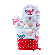 ARNOLD CARDEN Oven Mitts Cup Cake Right Side -  Red 19x32cm