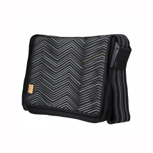 LASSIG Casual Messenger Zigzag - BW