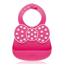 DOLLBAO The Good Time Baby Bib - Pink Bow TGT-BB02SB