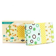 PurCotton Baby Cotton Blankets76x95cm Yellow and Green Print 4piece/box