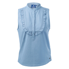 Kangol-The spring and summer women's trim shirts are half open with a sleeveless tunic- Dark Blue