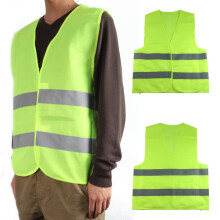 PAO MOTORING Safety Security Visibility Reflective Vest Construction Traffic [ Light Green / Orange 5PCS ]