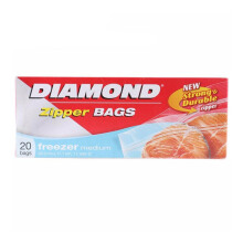 DIAMOND Zipper Freezer Bags Medium 20bags