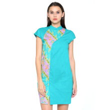 FBW Shanghai Cap Sleeves Batik Dress - Tosca