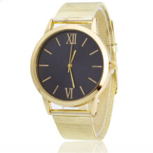 BESSKY Women Ladies Silver Stainless Steel Mesh Band Wrist Watch-