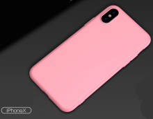 Reys R-4 Silicone anti-fall Surface scrub treatment IPHONE X case cover-Pink