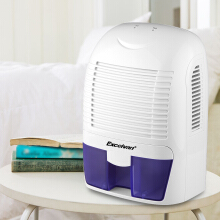 Excelvan 1.5L Mini Air Dehumidifier Portable Dryer Home Bathroom Kitchen Garage Damp UK