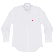 COMME DES GARCONS Play Little Red Heart Men's Shirt - White