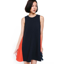 LOVE, BONITO Cylene Contrast Swing Dress HY3566-052 - Navy Blue