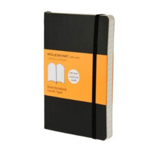 Moleskine Ruled - Soft Cover - Black - Pocket - QP611F