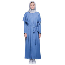 HATTACO  BY RANI HATTA Ruffle Dress- Denim