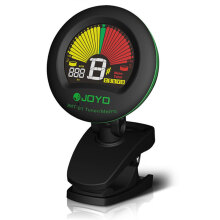 JOYO JMT - 01 Clip-on 360 Degrees Rotation Color LCD Guitar Tuner Metronome for Bass Violin Ukulele