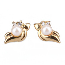 1901 JEWELRY  Anting Little Pearl Studs 4761 (Lapis Emas 24K)