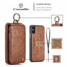 CaseMe iphone X case Two in one mobile wallet leather car bracket all-inclusive shatter-resistant shell