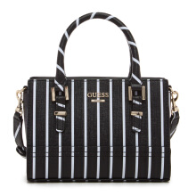 GUESS Handbags Satchel - Black Stripe [ST642176]