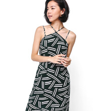 LOVE, BONITO Tashay Printed Halter Midi Dress - Black