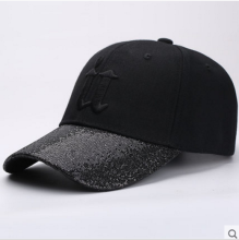 BAI B-252 Adjustable Baseball Cap MBL Hiphop cap with U design Black color