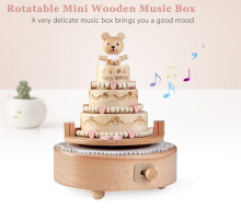 Rotatable Sweet Cake Wooden Music Box Toy