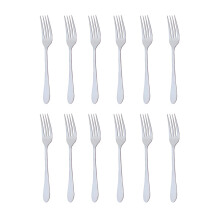 TANICA Natur Garpu Makan Set 12 Pieces - Stainless Steel