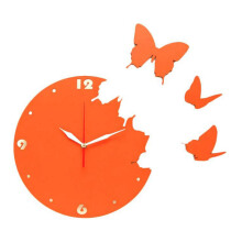 NAIL YOUR ART Butterfly Orange Wall Clock/30x30Cm