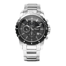 SWISS NAVY Man Chronograph Black Dial Stainless Steel [6802MSSBK]