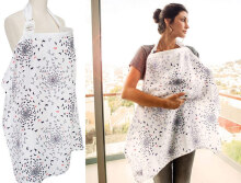 Breathable Pocket Women Nursing Breastfeeding Cover(White Flower)