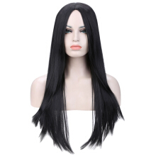 80cm Women Natural Soft Heat Resistant Long Straight Hair Wigs