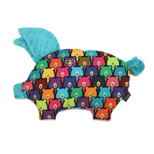 LA MILLOU Sleepy Pig Pillow - Candy Bear Teal SP060E