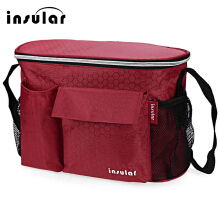 Heat Preservation Babies Diaper Bag for Stroller(Red)