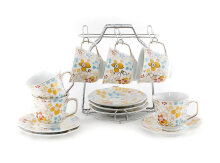 VICENZA Cup and Saucer Poppy 13Pcs C78-1LP