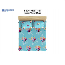 PILLOW PEOPLE Bed Sheet Set - Frozen Winter Magic / 180x200cm