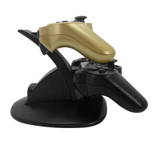 [Kingstore]Black LED Light Quick Dual USB Charging Dock Stand Charger For PlayStation 3