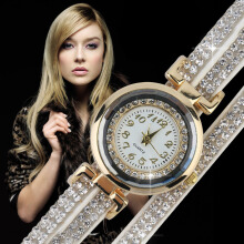 New Womens Lady Round Quartz Trendy Girls Lovely Bracelet Wrist Watches