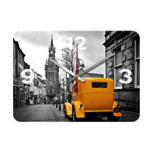 NAIL YOUR ART Yellow Taxi Wall Clock/30x30Cm
