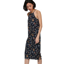 LOVE, BONITO Hennech Printed Ribbon Hem Midi Dress - Navy