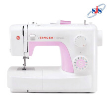 SINGER 3223 Simple Mesin Jahit Portable - Putih-Pink