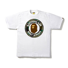 A BATHING APE 1st Camo Bear Busy Works Tee - White [L] 0ZX TE M109917 8 GRX