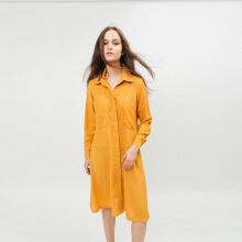Bel.Corpo Lou ShirtDress - Mustard Orange S