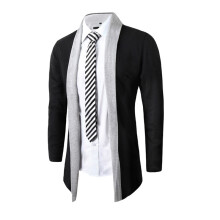 BESSKY Stylish Men Fashion Cardigan Jacket Slim Long Sleeve Casual Coat -