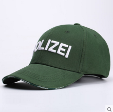 BAI B-321 Adjustable Baseball Cap MBL Hiphop cap with POLIZEI design Green color